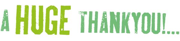 A Huge Thankyou!